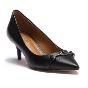COACH Leather Kitten Heel Pump Size 7.5B